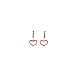 Tilyon Colored Stone Open Heart Earrings - ER-1962