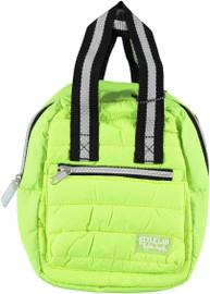 Fasion Angels Mini Backpack Puffer Neon Yellow Sport Stripe - 12479