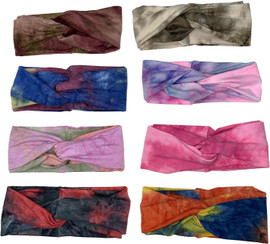 Riqki Womens Cotton Tie Dye Knot Headband - HS2044