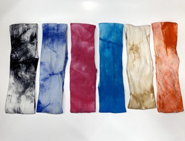Riqki Womens Ribbed Tie Dye Headband - HS2055