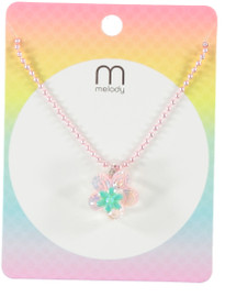 Michelle G&P Flower Necklace - NKK0131