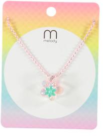 Michelle G&P Flower Necklace - NKK0131