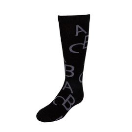 JRP Alphabetic Dark Knee Socks - SALPD