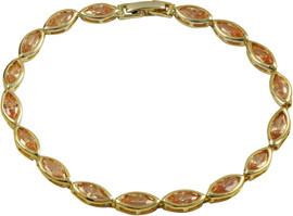 Champagne Stone Vermeil Bracelet - 6B519-B-GD-Chmp