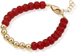 Crystal Dream Red and Gold Bead Bracelet - B1915-S