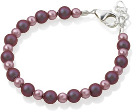 Crystal Dream Purple & Rose Bead Bracelet - B1913-S