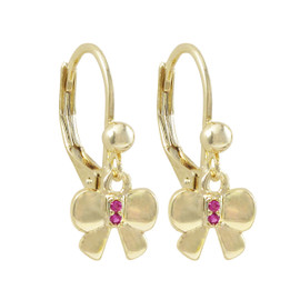 Gold Bow Earring - 3EW4361