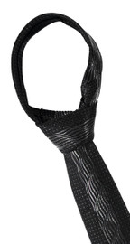 Silver Middle Waves Tie
