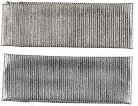 Riqki Womens Ribbed Metallic Headband - HS2058