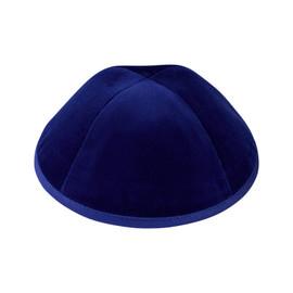 TCS Yarmulka - Velour Royal Blue