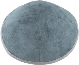 TCS Yarmulka -Suede Grey with Light Grey Rim