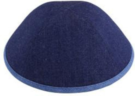TCS Yarmulka - Denim Blue With Jean Rim