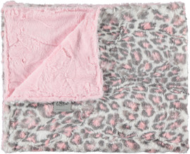 Luxe Light Pink/Jaguar Blush Blanket-SB12