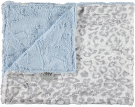 Luxe Light Blue/Jaguar Gray Blanket-SB14