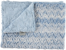 Luxe Light Blue/Paloma Chambray Blanket-SB19