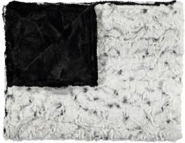 Luxe Black/Snowy Owl Alloy Blanket-SB21