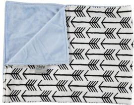 Solid Light Blue/Arrows White & Black Blanket-SB24
