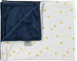 Solid Navy/Gold Star Light Blue Blanket-SB29
