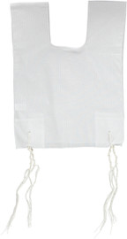Keter Judaica Mens 100% Cotton Round-Neck Tzitzis with Ashkenaz Strings
