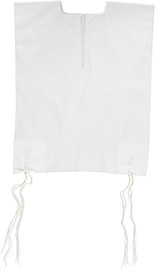 Keter Judaica Mens 100% Cotton V-Neck Tzitzis with Ashkenaz Strings