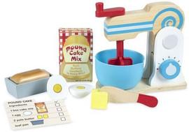 Melissa & Doug Wooden Make-a-Cake Mixer Set - md9840