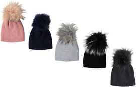 MC Ribbed Knit Unisex Pompom Hat - PM-19Z210
