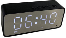 Alarm Clock Display Portable Bluetooth Wireless Speaker (Black)