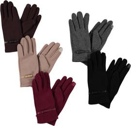 Riqki Womens Gloves w/Bow - GL506