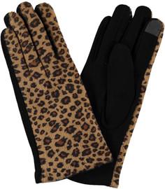 Riqki Womens Leopard Print Gloves - GL537