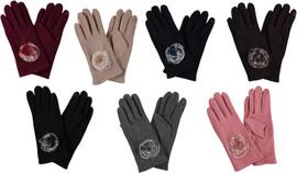 Riqki Womens Gloves w/Fur Flower - GL31