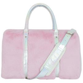 Rose Furry Duffel Bag-810-1388