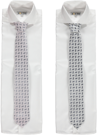 Charcoal Lines Men's Ties 105