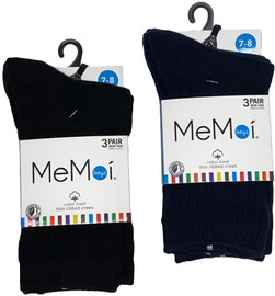 Memoi Boys Thin Ribbed Crew Socks 3 Pack - MK-565