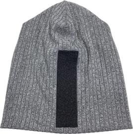 Riqki Womens Black Lurex Stripe Ribbed Beanie - WB109