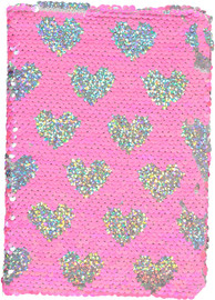 Michelle Sequin Heart Notebook - GFE1170