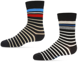 Memoi Boys Striped Crew Socks - MK-149