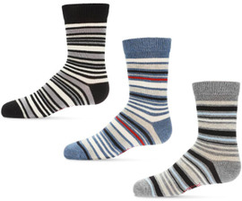 Memoi Boys Multi Striped Crew Socks - MK-150