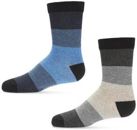 Memoi Boys Ombre Stripe Crew Socks - MK-148