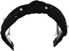 Riqki Girls Black w/Pearls Knot Headband - HB2031
