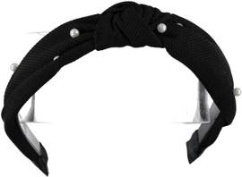 Riqki Girls Black w/Pearls Knot Headband - HB2031