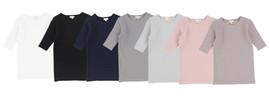 Lil Legs Three Quarter Sleeve Ribbed T-Shirt