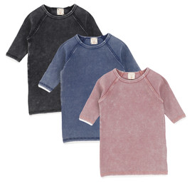 Analogie Denim Wash Three Quarter Sleeve Tee