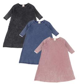 Analogie Denim Wash Three Quarter Sleeve Dress