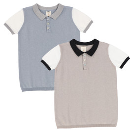 Analogie Colorblock Knit Polo