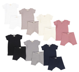 Lil Legs Short Sleeve Ribbed Sets
