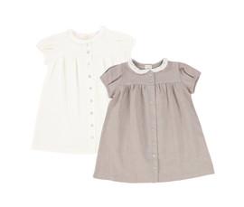 Analogie Short Sleeve Linen Collar Dress