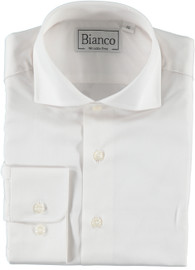 Bianco Boys Slim White Shirt