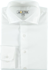 Akuto Boys Solid White Long Sleeve Dress Shirt