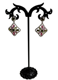Rhinestone Square Earrings (SET83438EW)
