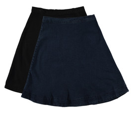 BGDK Women's Solid Denim Skirt
